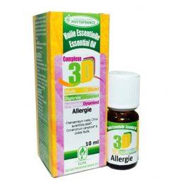 Huile essentielle 3 D diluée dispersée dynamisée allergie